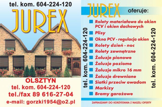 Jurex  NAKLEJKA  2017 - czerwone litery